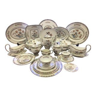 "Wedgewood ""Kutani Crane"" China Service for 12+ Serveware Set"