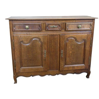 French, Louis Xv Rustic Oak Buffet
