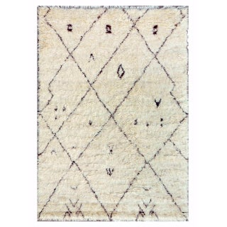 Moroccan Wool Area Rug- 7′11″ × 10′