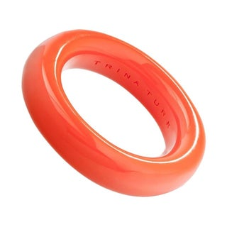 Trina Turk Resin Orange Bangle Bracelet