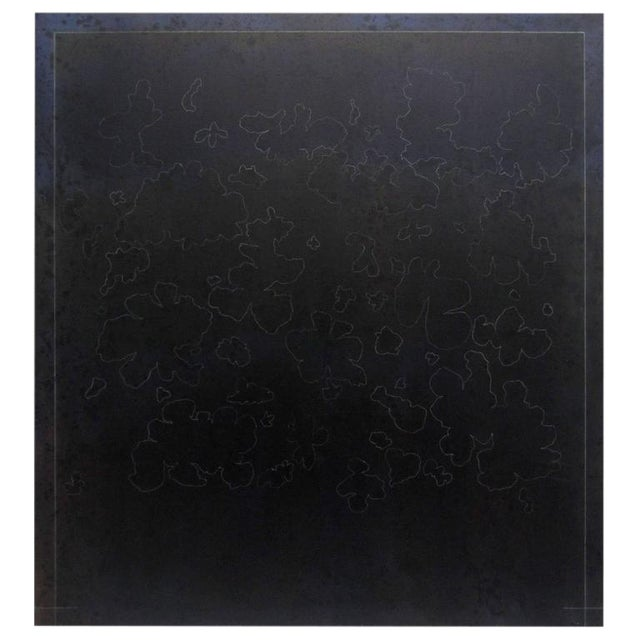 Large Black Minimalist Abstract Oil Painting by Gerald Campbell - Image 1 of 6