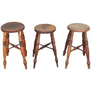 Group of Three Early 19th Century Pub Stools