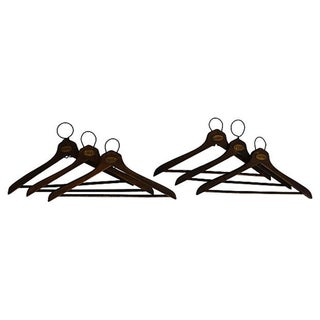 1930's Coat Check Numbered Hangers- Set of 6