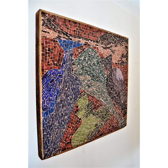 Cubist Glass Mosaic Wall Sculpture - Image 2 of 11