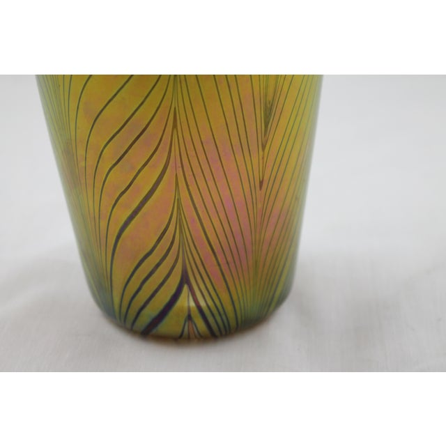 Contemporary Steuben Style Gold Vase - Image 9 of 11