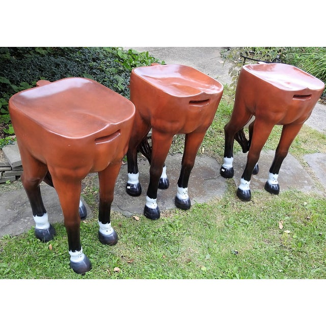 Image of Horse-Shaped Bar Stools - Set of 3