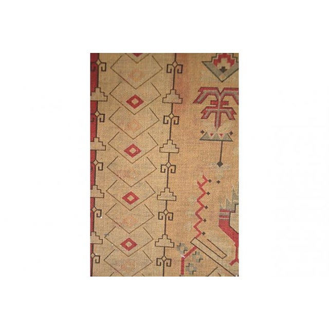 Antique Hand-Dyed Linen Tapestry Room Screen - Image 4 of 7