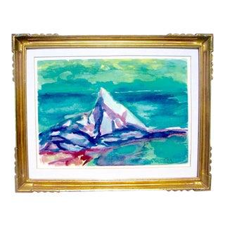 Framed German Expressionist Landscape