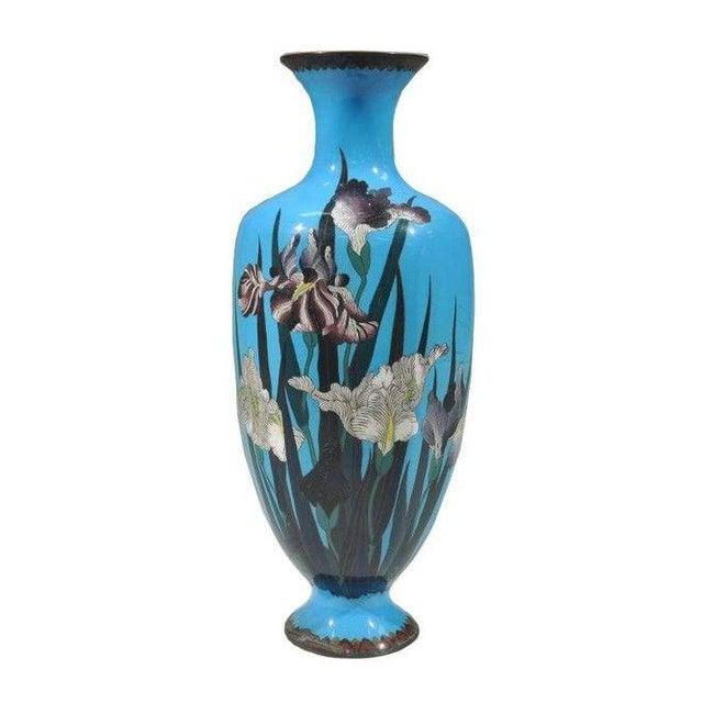 Image of Large Cloisonne Enamel Vase