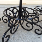 Image of Vintage Wrought Iron Counter Stools - Set of 4