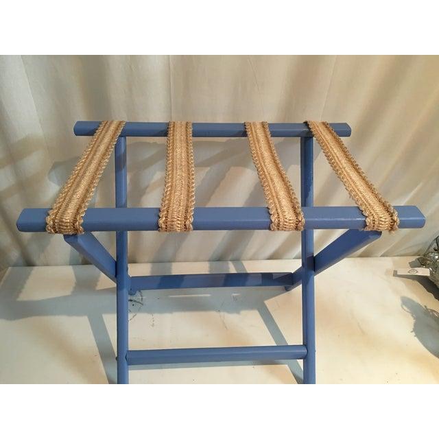 Sky Blue & Sisal Luggage Rack - Image 3 of 4