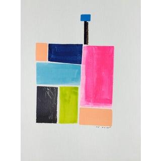 Tv: Original Acrylic on Paper