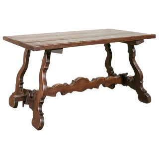 Antique Spanish Colonial Style Oak Coffee Table
