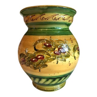Rustic French Signed & Handmade Vase