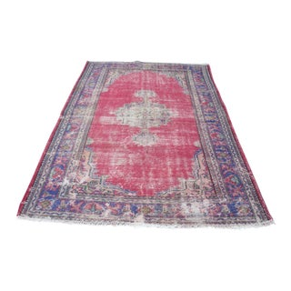 Antique Overdyed Rug- 5′11″ × 9′3″