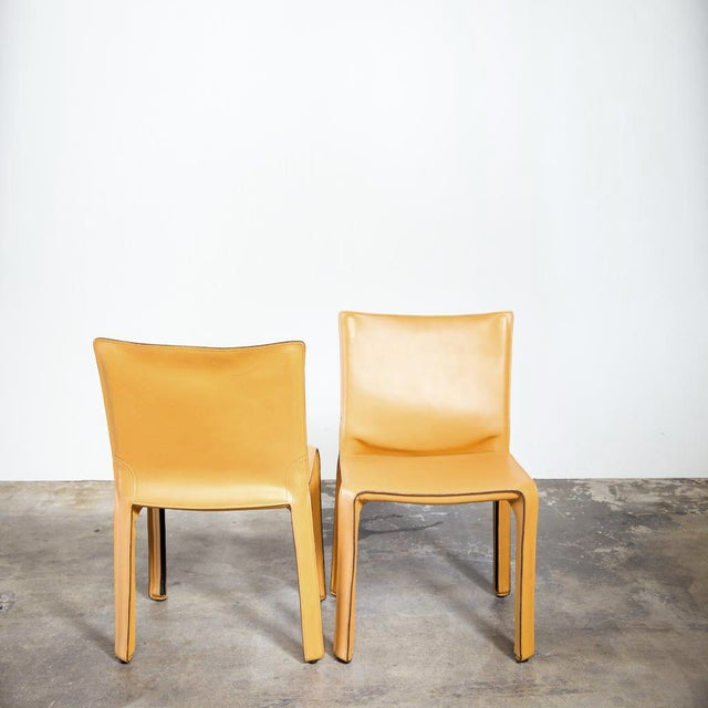 Cassina Cab Dining Chairs - Set of 4 - Image 3 of 4