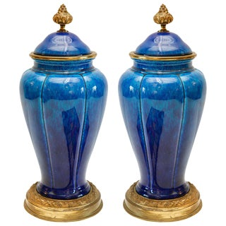 Striking, Sevres , Lidded Urns