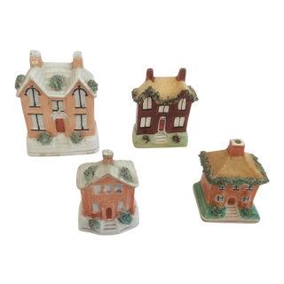 Staffordshire House Banks - Set of 4
