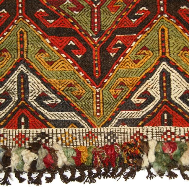 "Funky Retro Vintage Turkish Kilim - 2'7"" X 3'7"" - Image 3 of 3"