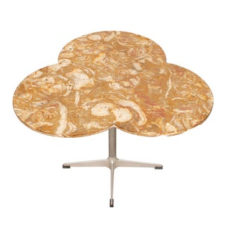 Trefoil-Shaped Marble Top Occasional / Dining Table