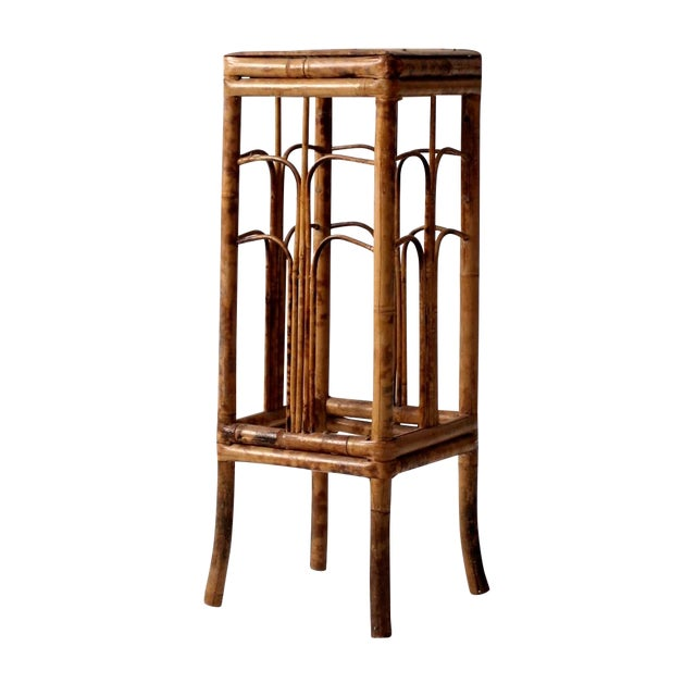 Vintage Bamboo Side Table - Image 1 of 8
