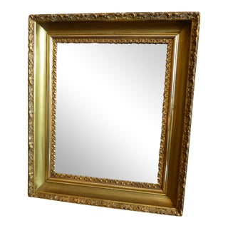 Vintage Gilded Wood & Plaster Wall Mirror