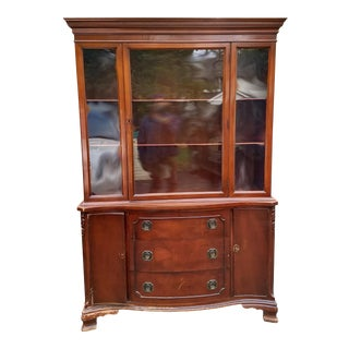 Morganton Furniture Wood Display Cabinet