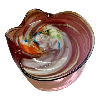 Mid-Century Murano Art Glass Ashtray or Trinket Dish