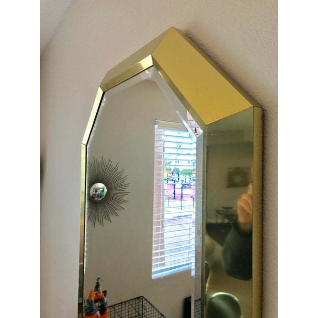 Springer Style Brass Beveled Glass Mirror - Image 5 of 9