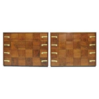 Renzo Rutili Black Walnut Chest of Drawers - A Pair
