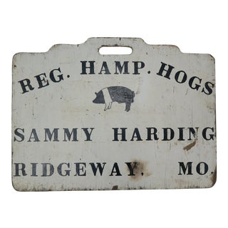"Americana Double Sided ""Hog"" Sign"