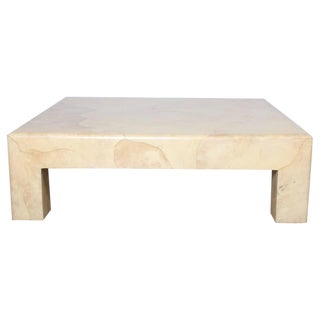 Goatskin Covered Coffee Table by Karl Springer