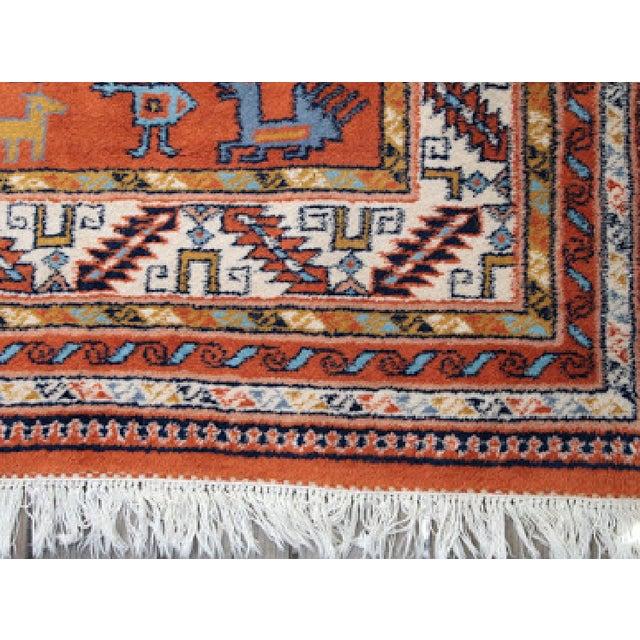 Turkish Rug Orange: Vintage Orange Turkish Rug - 5′8″ × 8′9″