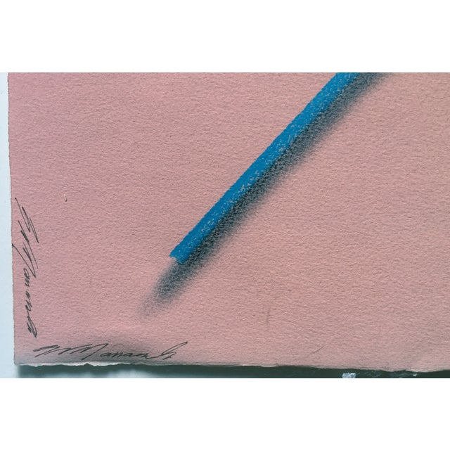 """Image of Modernist Abstract Pastel """"Color Pencils"""""""