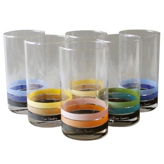 Vintage Pierre Cardin Glasses Tumblers - Set of 6