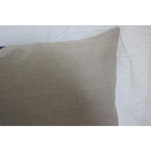 Image of Kravet Navy Ikat Pillow