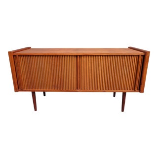 Vintage Barzilay Mid Century Modern Walnut Record Cabinet