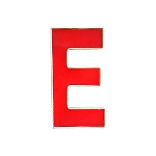 "Large Red & Gold Marquee Letter ""E"""