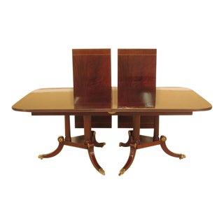 Henkel Harris Model #2276 Flame Mahogany Dining Room Table