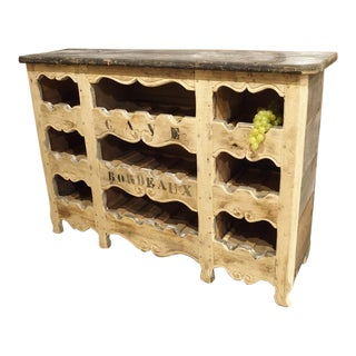 """Cave Bordeaux"" Poplar Wine Carrier from France"