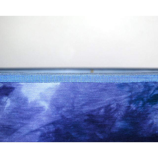 Blue Hand Dyed Fabric Lampshade - Image 3 of 5