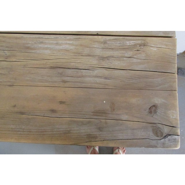 Primitive Pine Console Table - Image 4 of 6