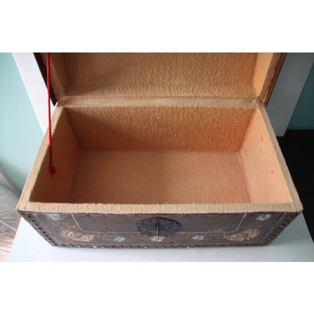 Boho Chic Leather Nailhead Trunk - Image 7 of 11
