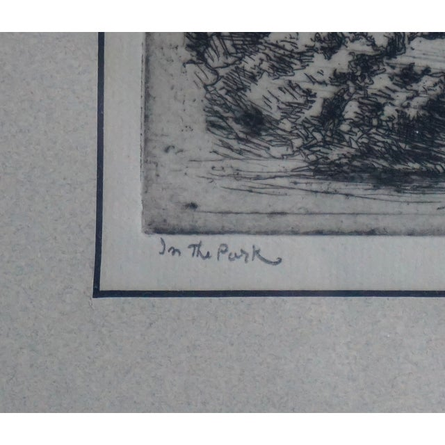Image of Eugene Higgins In The Park Etching