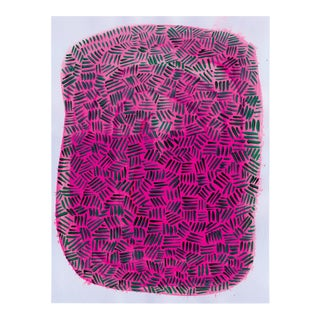 Contemporary Pink & Black Painting