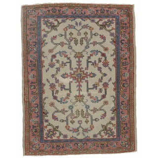 Turkish Oushak Hand Knotted Wool Rug - 4′9″ × 6′3″