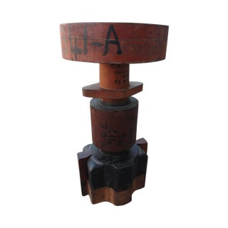 Sculptural Industrial Wood Mold