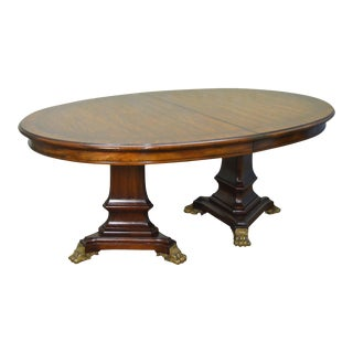 Karges French Empire Style Mahogany Expandable Oval 11 Foot Dining Table