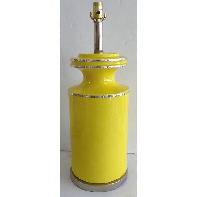 Image of Pierre Cardin Style Glass Table Lamp