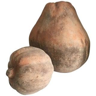 Monumental Terra Cotta Gourds - A Pair